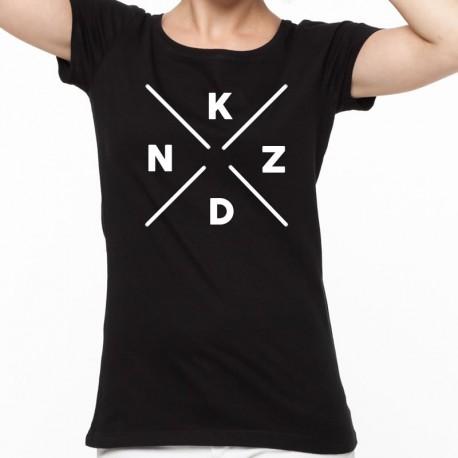 T-Shirt Black Gizah dames